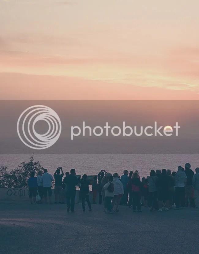 Atardecer en Oia, Santorini