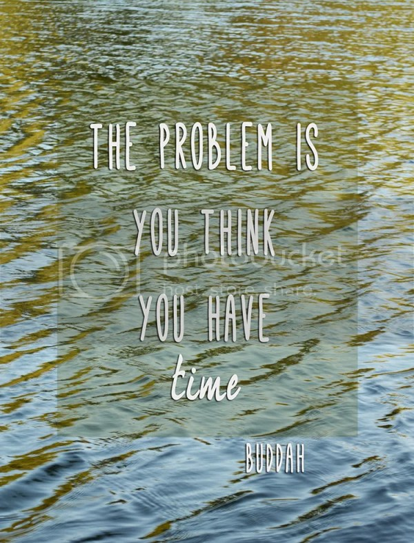 The problem is you think you have time by Buddah