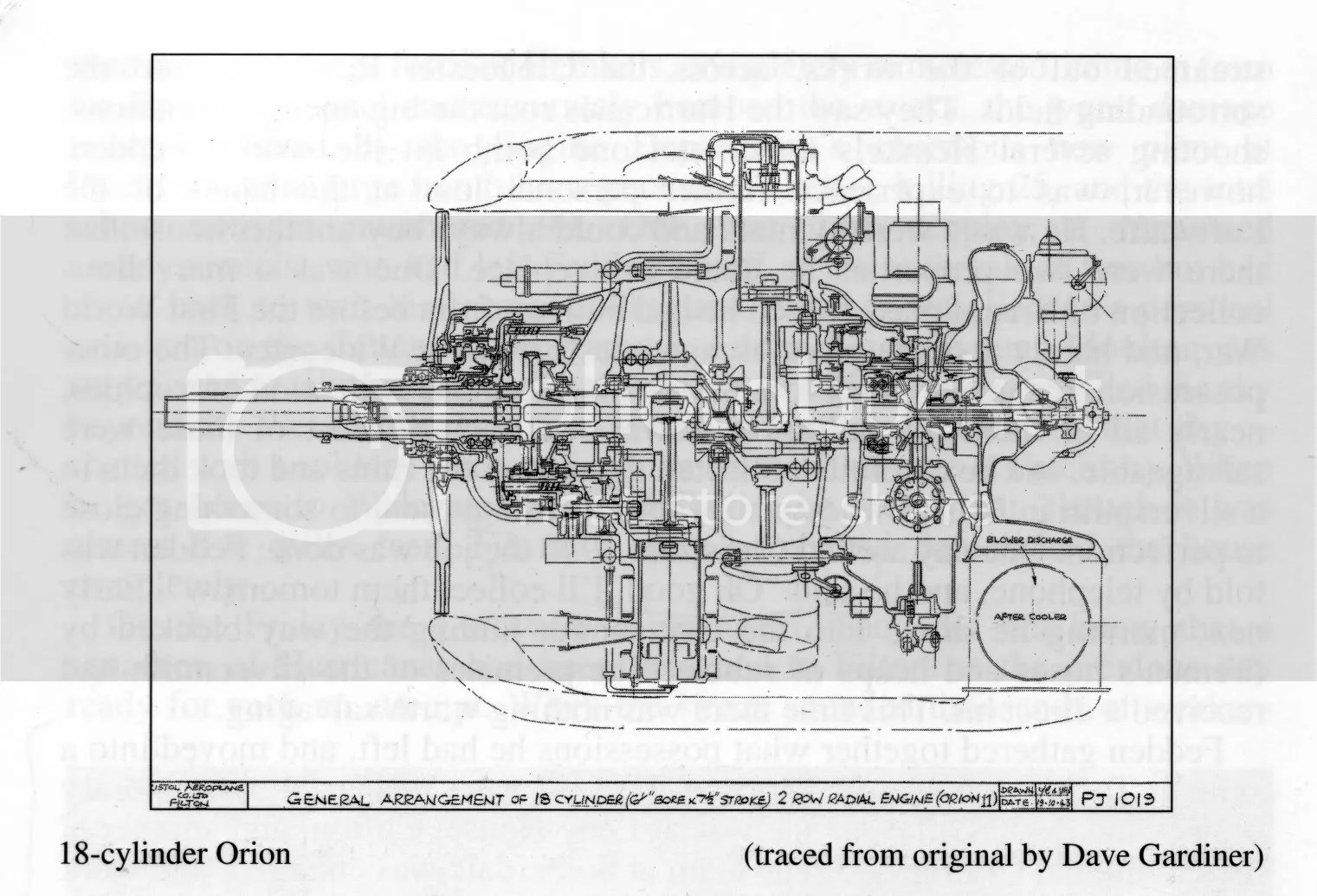 Bristol Orion Aero Engine