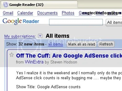 google reader remove sidebar