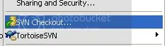 tortoisesvn subversion checkout command menu