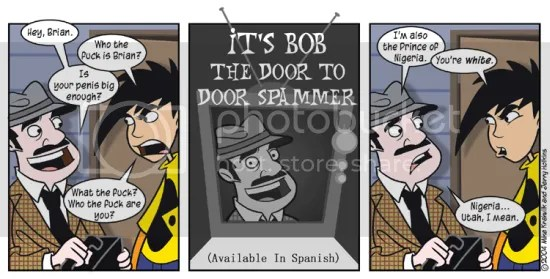 penny arcade bob the door to door spam salesman