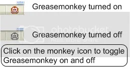 turn greasemonkey on and off