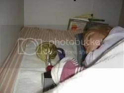 sleeping with her trophy