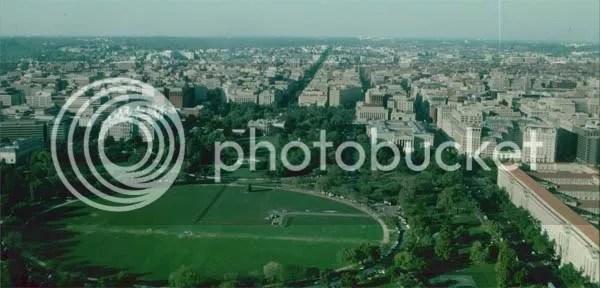 Washington D.C., Weißes Haus vom Washington Memorial