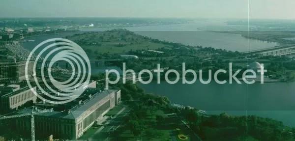Washington D.C., Potomac, Jefferson Memorial aus Washington Monument