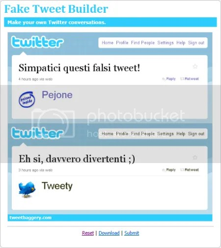 COME CREARE FALSI TWEET