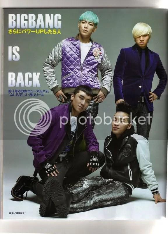 Big Bang trên tạp chí Nhật,Women Weekly