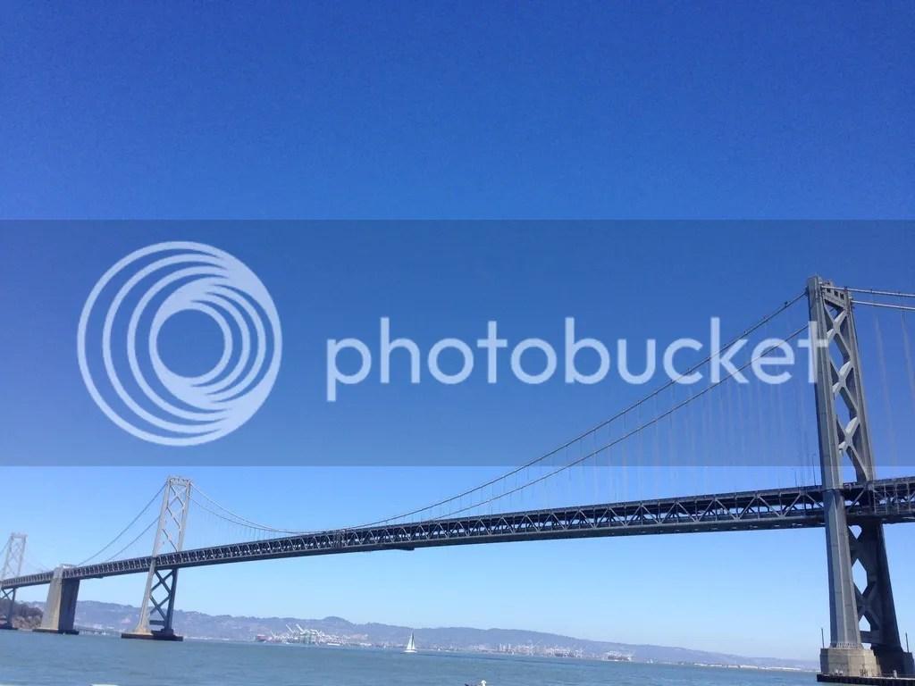 Oakland Bay Bridge from Rincon Park