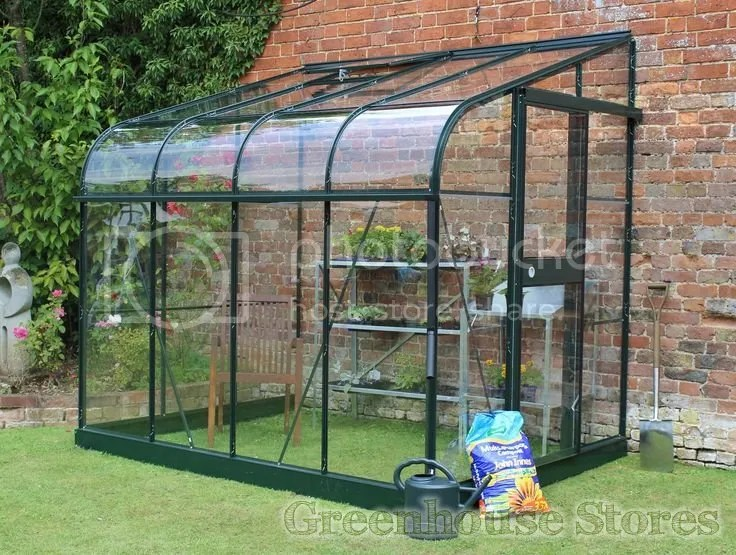 halls silverline lean to 6x8 greenhouse