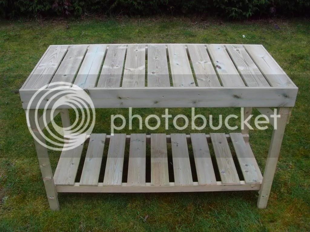 wooden 2 tier staging