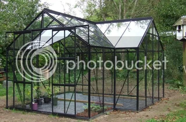 vitavia sirius orangery greenhouse in black