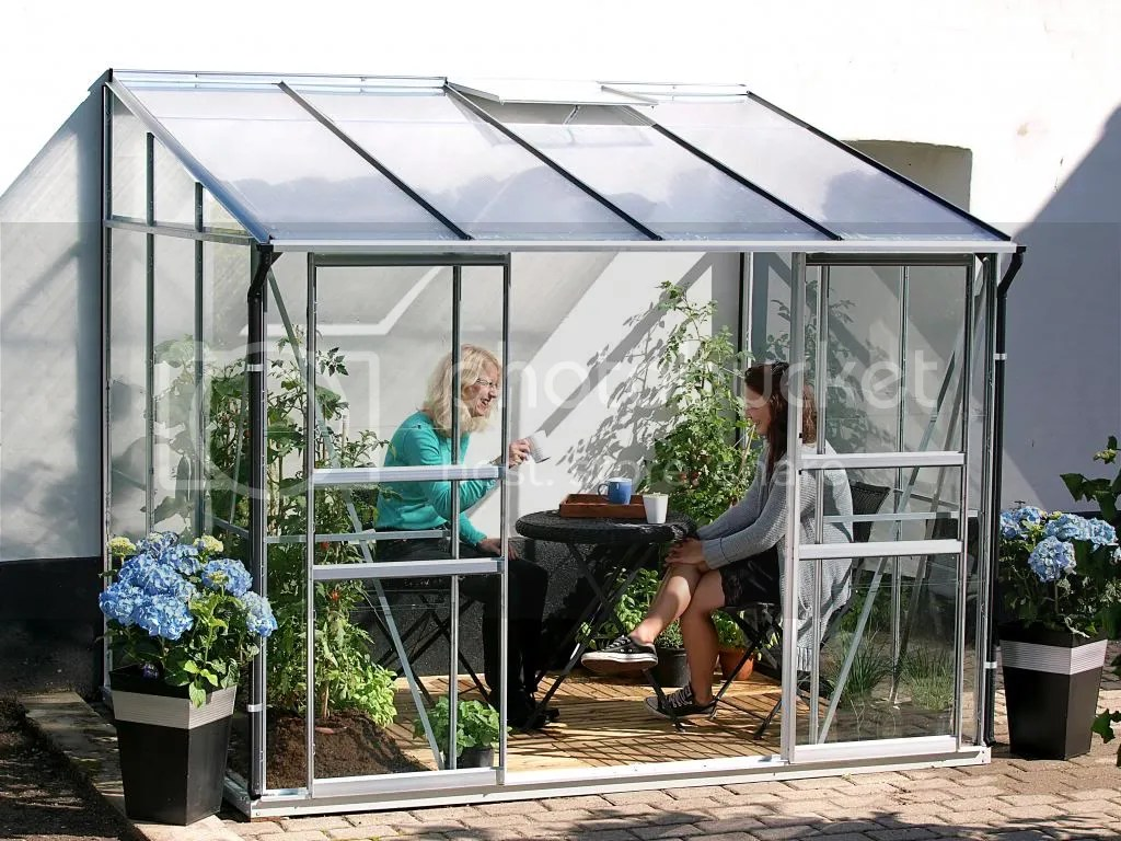 vitavia Ida 5200 6x8 lean to greenhouse