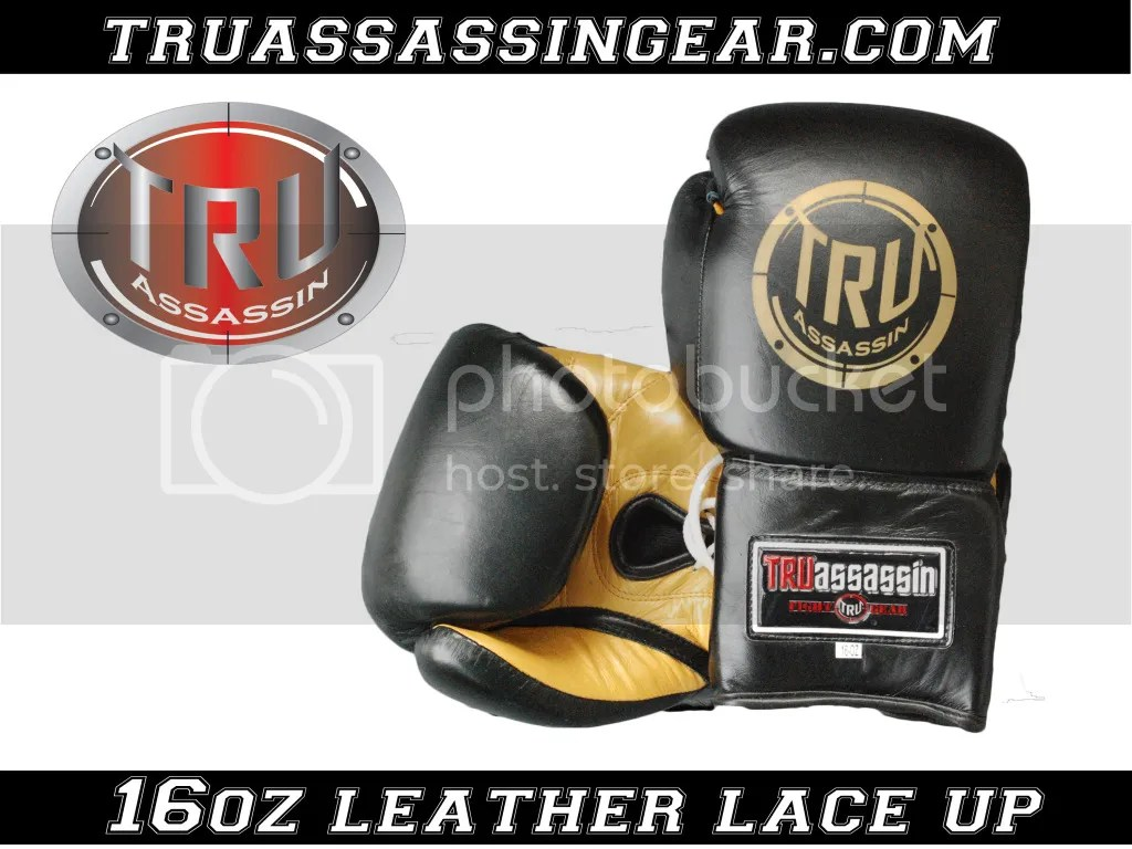 black and gold lace up, 16 oz leather