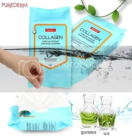 Purederm Collagen Makeup Cleansing Towelettes