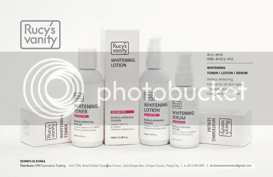 Rucy's Vanity Whitening, Toner, Lotion, Serum
