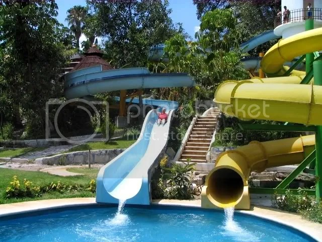 I try a water slide.