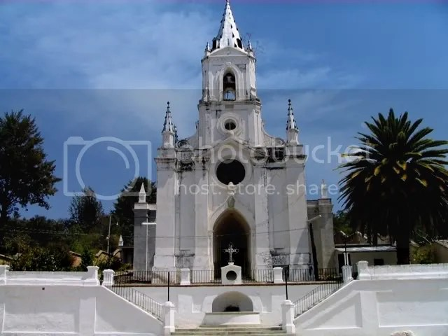 Very old church building at Vista Hermosa in area of San Augustin Etla