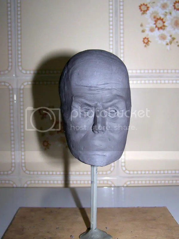 sculpture head front