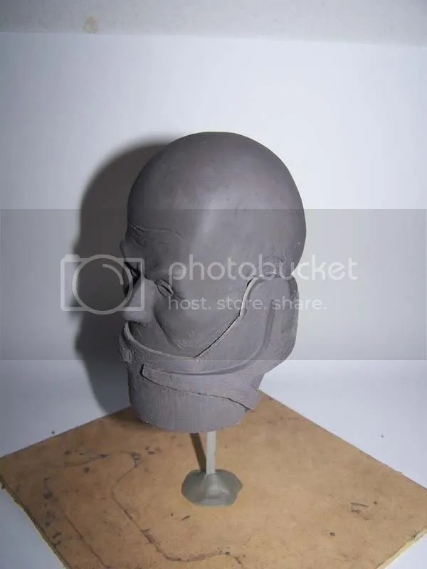 sculpture head 3/4
