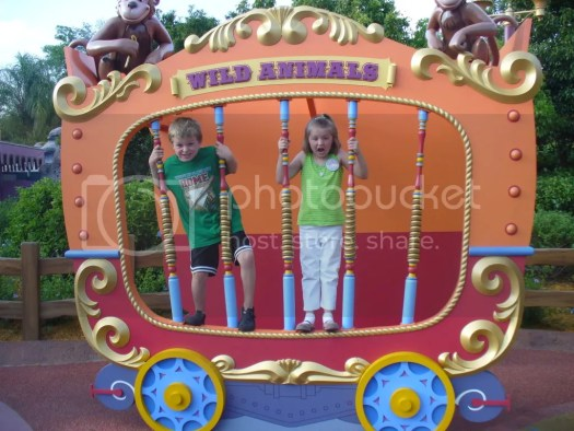 Aiden and Aly wild animals at Disney