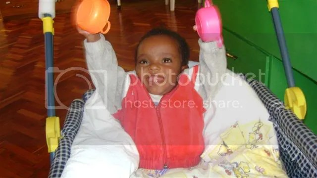 Our daughter while she was in the Care Center in Ethiopia