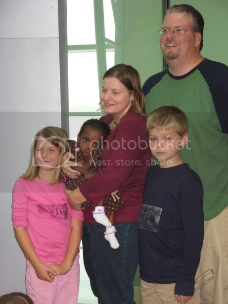 Our first picture as a family of five. Taken at the Indianapolis International Airport