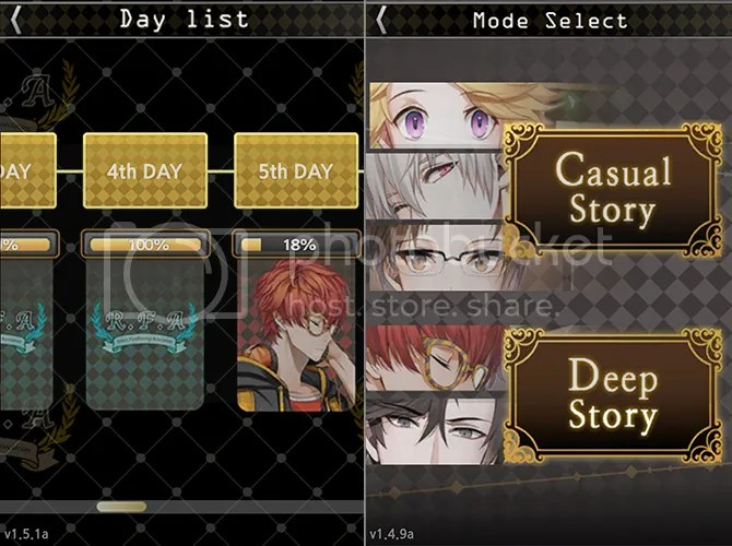 mystic messenger faq day list