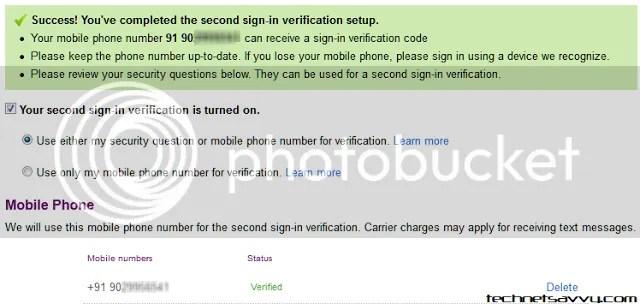 Mobile verification complete