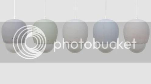 Hängeleuchte Hängelampe Pendelleuchte Pendellampe aus Beton feinporig grau weiß rosa hellblau hellgrün