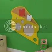 Käsestück wandspiegel kinderzimmer holz kork pinnwand sicherheitsspiegel kinderzimmer flur eingangsbereich diele
