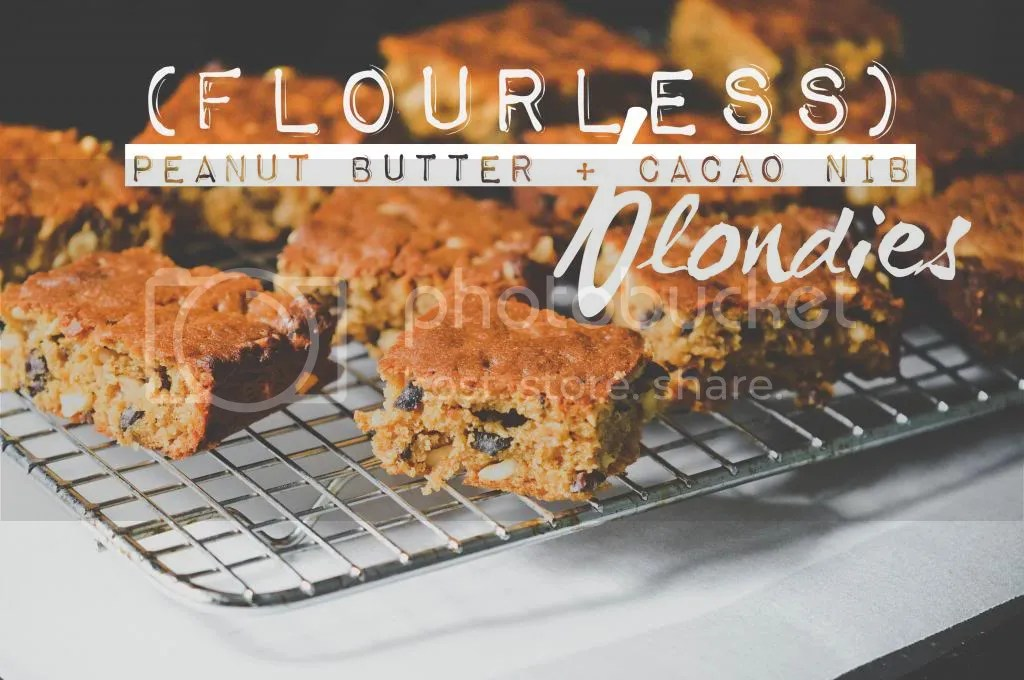 Flourless Peanut Butter & Cacao Nib Blondies