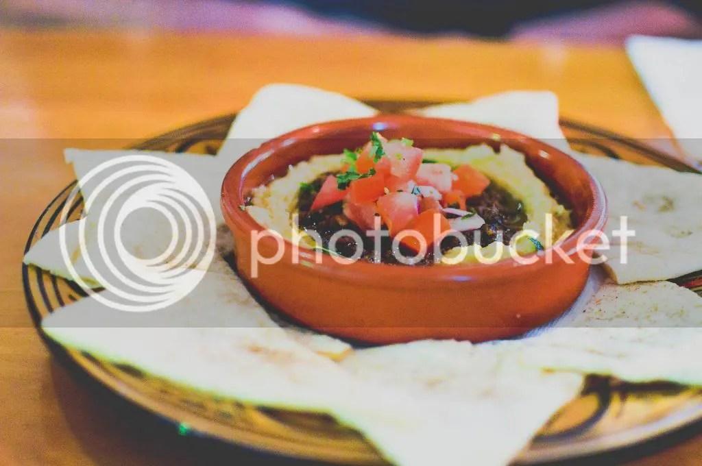 Hummus Topped With Spiced Lamb, Pinenuts And Herbs, Lebanese Za'atar Bread