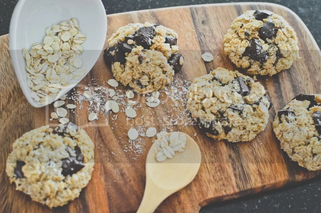 Oat & Barley Cookies with Coconut & Dark Chocolate Chunks