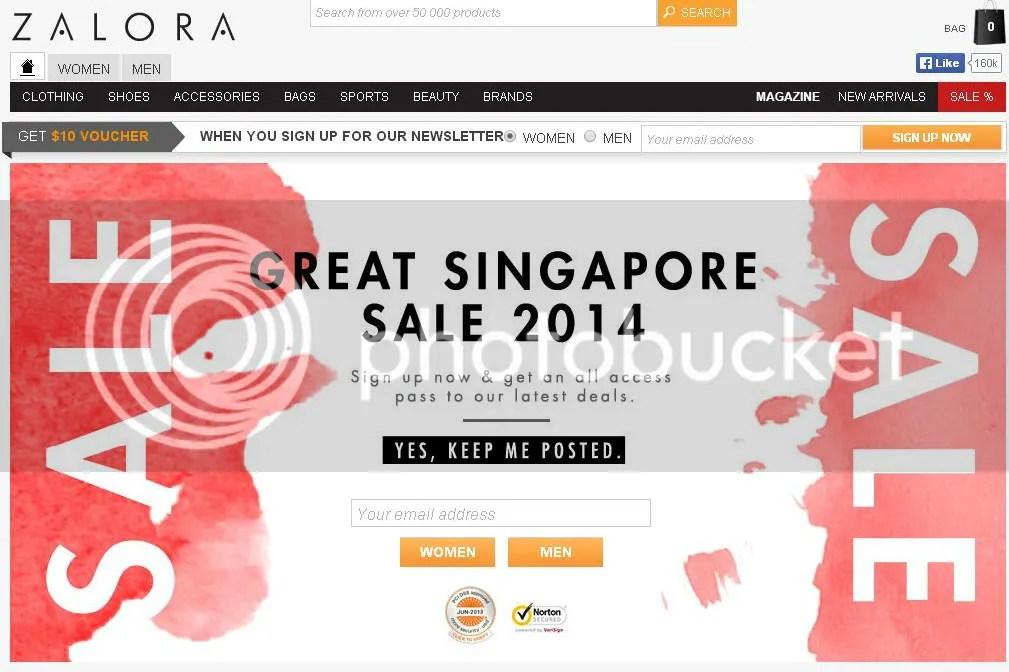 ZALORA Great Singapore Sale 2014