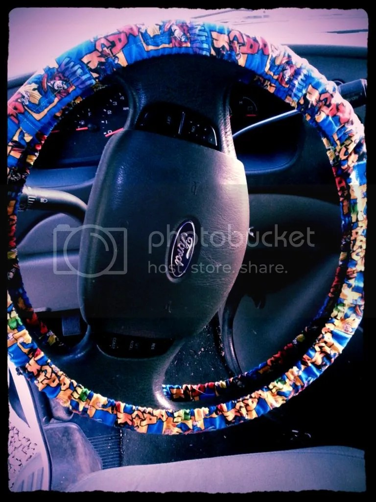 steering wheel cover DIY Tutorial