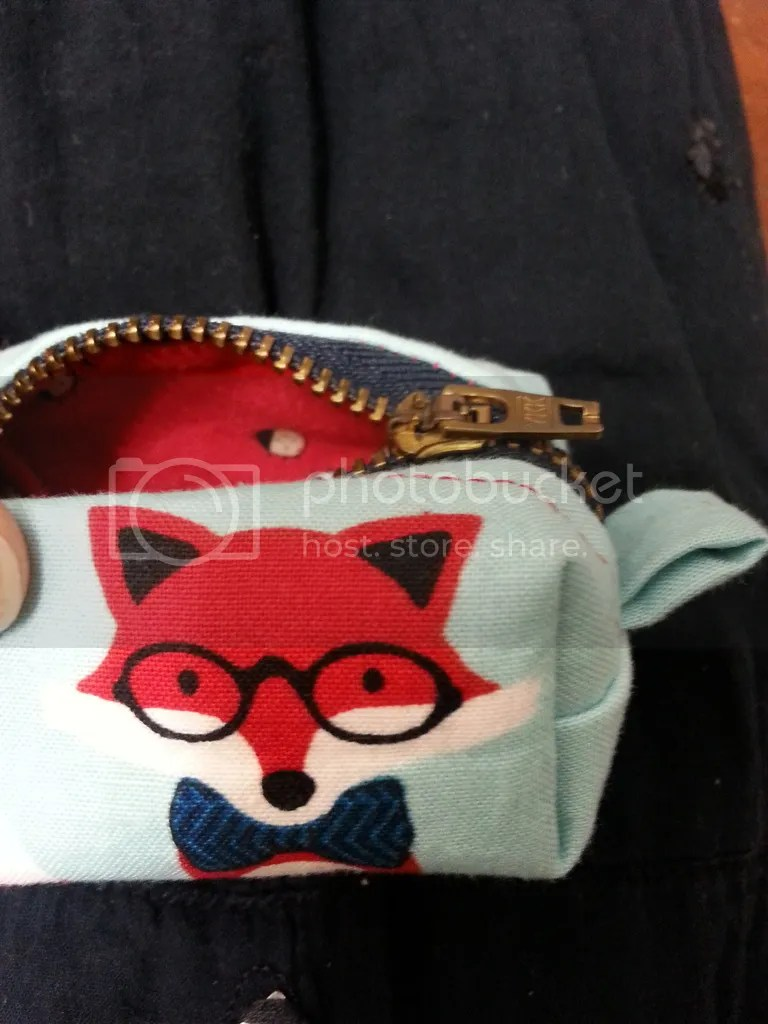 Fox Mini Zipper Bag