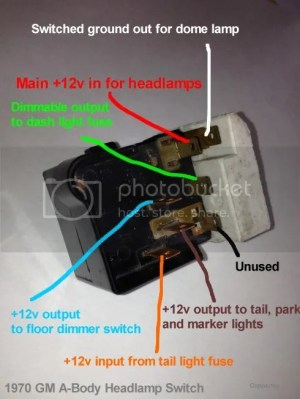 Helpful Headlight Switch Info  Chevelle Tech
