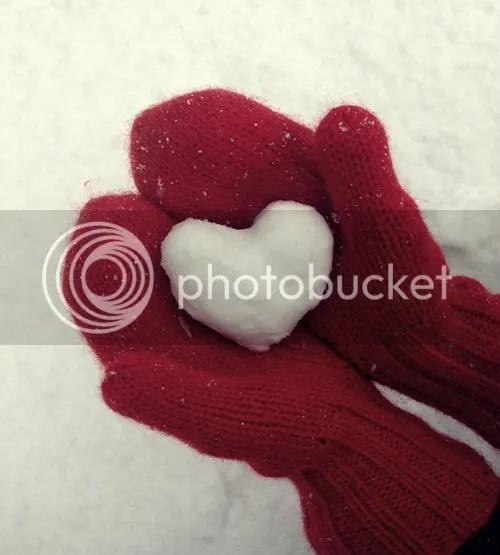 Heart-shaped Snowball