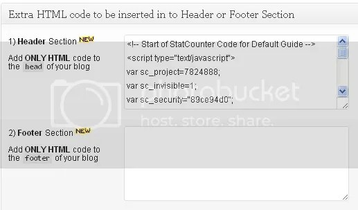 html and footer code