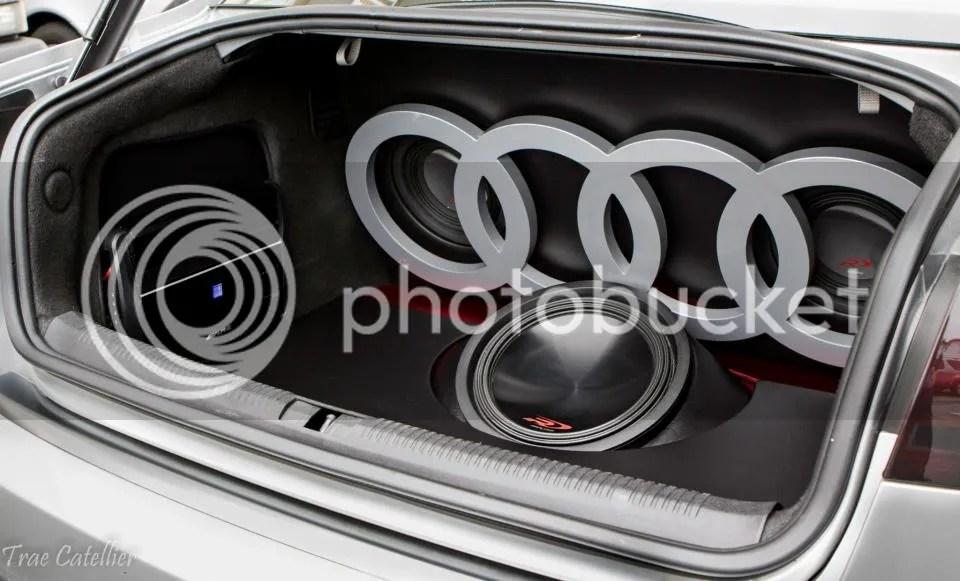 Custom Audi Sub Setup Finished Product