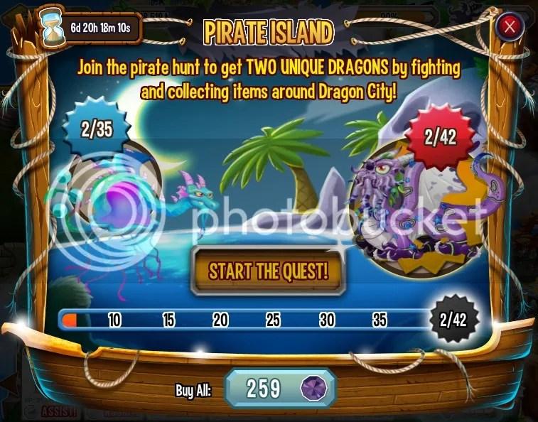 Pirate island on Dragon City