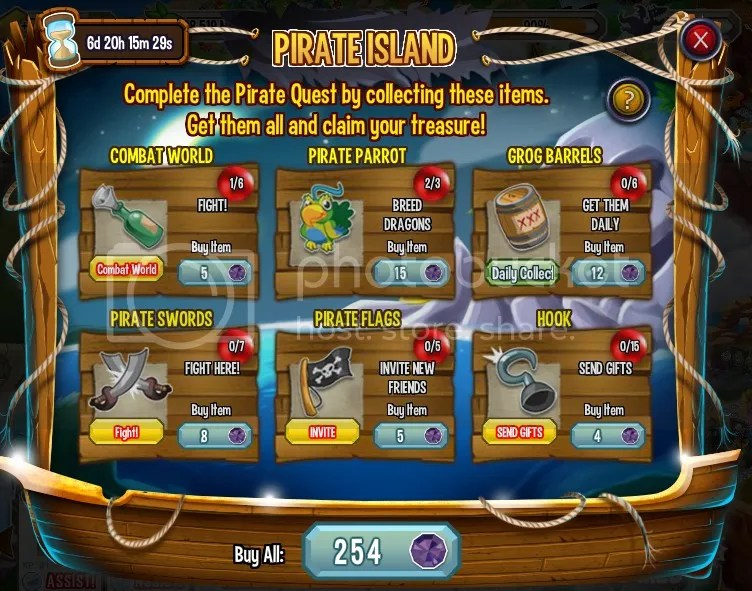 Dragon City Pirate Quest