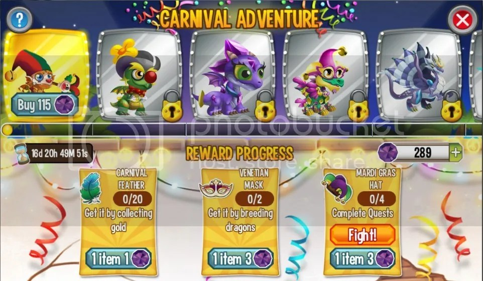 dragons in carnival adventure