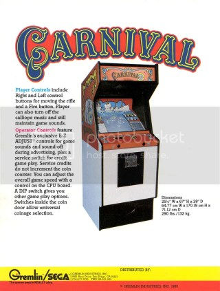 carnival arcade videogame