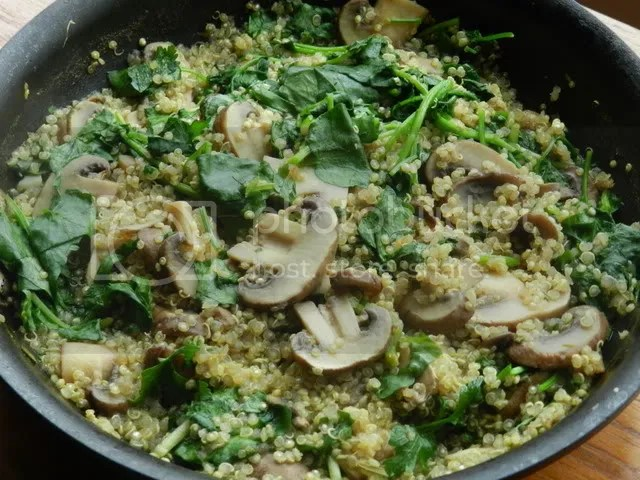 Mushrooms with Watercress & Quinoa