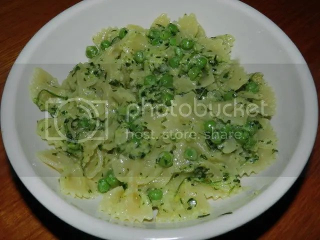 pasta with mint pesto