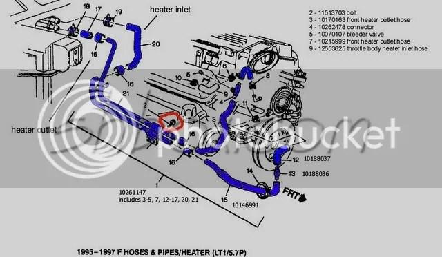 1999 Ford Explorer Cooling System Hoses