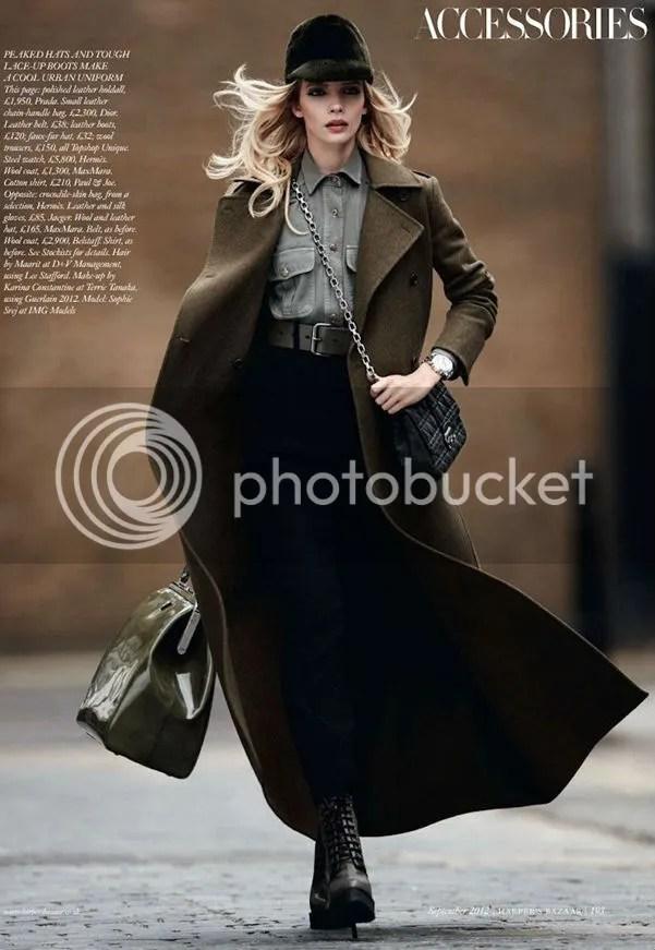 Sophie Srej in Attention Please Harper's Bazaar UK editorial shot by Jonas Bresnen