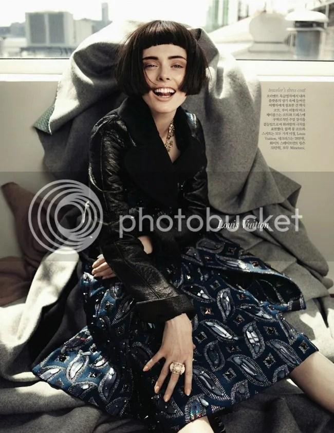 Editorial ELLE Korea Iconic Coco Coco Rocha shot by Hong Jang Louis Vuitton
